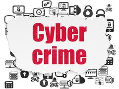 Security concept: Cyber Crime on Torn Paper background Piirros