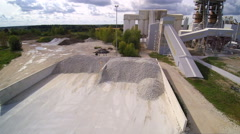 Overview of the limestone factory Stock Footage