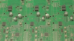 Populated printed circuit board Stock Footage