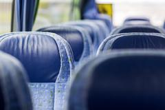 Stock Photo of travel bus interior and seats