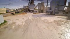 Going through inside the limestone factory Stock Footage