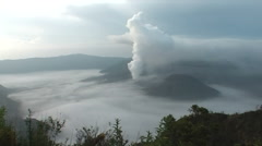 Bromo vulcano - stock footage