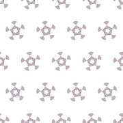 Seamless Black and White Abstract Pattern from Repetitive Arcs Stock Illustration