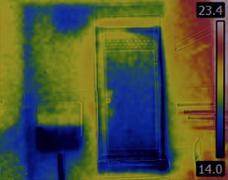 Toilet Flusher Infrared Image Stock Photos