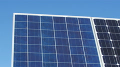 The solar cells on the panel outside Stock Footage