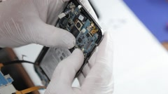 Cell phone in a lab Stock Footage