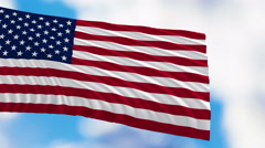 Flag Of The United States Of America - stock footage