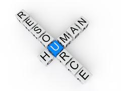 Human resource cubes 3d text Stock Illustration