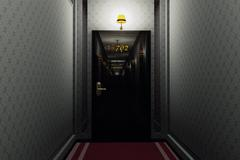 Stock Illustration of Fancy Hotel Corridor