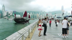 Avenue of Stars,Hong Kong Stock Footage
