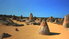 Stock Video Footage of 3 axis gimbal shot of the pinnacles in western australia
