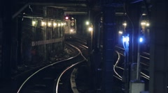 Train passing through subway, New York, USA Stock Footage