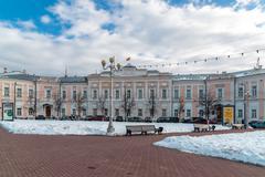 Tver, Russia - February 27. 2016.  City Duma building on Sovetskaya Street Stock Photos