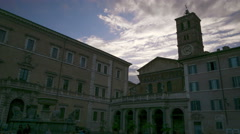 Italy Rome city buildings sunset time lapse Stock Footage