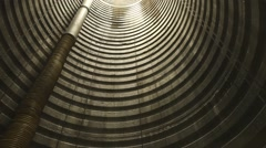 Interior of a silo - stock footage