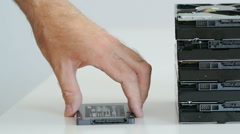 Removing SSD over HDD Stock Footage