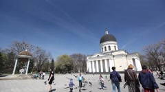 Moldova Cathedral in Chisinau Stock Footage