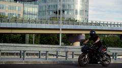 Highchir V Wheelie Motorbike trick Stock Footage