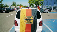German flag on car - stock footage
