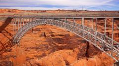 Glen Canyon Dam Arch Bridge Stock Photos