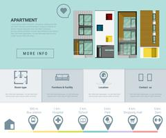 Residential banner and Infographic for web design Stock Illustration