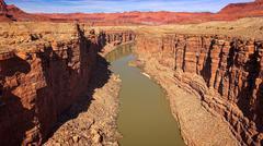 Colorado River Cuts Through Marble Canyon Stock Photos