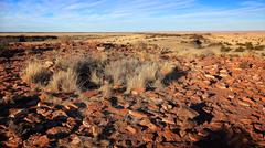 Stones From Ancient Pueblos at Wupatki National Monument - stock photo
