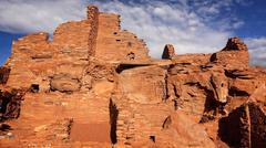 Native American Ruins at Wupatki National Monument - stock photo