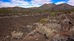 Bonito Lava Flow at Sunset Crater National Monument - stock photo