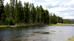 Firehole River Yellowstone National Park Stock Footage