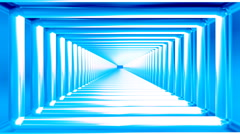 Broadcast Endless Hi-Tech Tunnel, Blue, Rectangle, Loopable, 4K Stock Footage