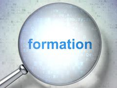 Stock Illustration of Studying concept: Formation with optical glass
