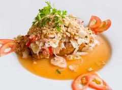 Prepared seafood dish Stock Photos