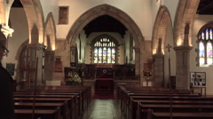 Barnard Castle St Marys Parish Church altar 4K Stock Footage