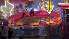 ULTRA HD 4K, real time, zoom;Attractions in Prater amusement park,Vienna Stock Footage