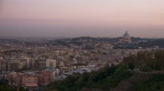 Italy Rome city sunset from far time lapse - stock footage
