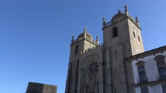 Sé of Porto (Cathedral) Stock Footage