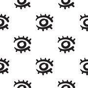 Eyes seamless pattern vector hand drawn Stock Illustration