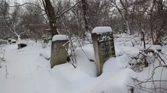 Jewish cemetery in Chisinau Stock Footage
