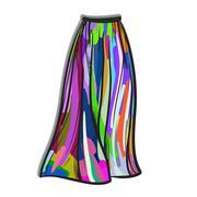 Stylish skirt model hand drawn vector illustration. Stock Illustration
