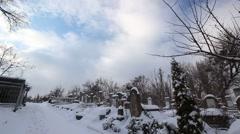 Jewish cemetery in Chisinau Moldova Stock Footage