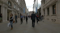 Walking on Glasshouse Street in the afternoon in London Stock Footage