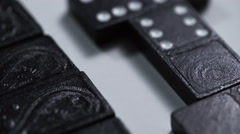 domino in macro. The game sequence - stock footage