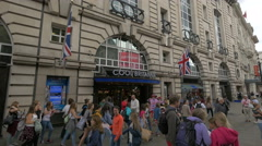 Cool Britannia shop in Piccadilly Circus, London Stock Footage