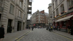 Glasshouse Street with pubs in London Stock Footage