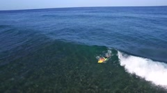 Surfer by Lighthouse Puerto Rico Stock Footage