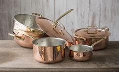 Set of Copper Cookware Stock Photos