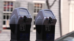 Parking Meters Stock Footage