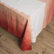 Tablecloth with Gradient Orange Zigzag Pattern Design - stock photo
