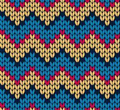 Seamless knitting zigzag pattern Stock Illustration